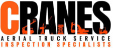 Cranes Aerial Truck Service logo - orange C, black RANES, with small orange cranes inside the black letters