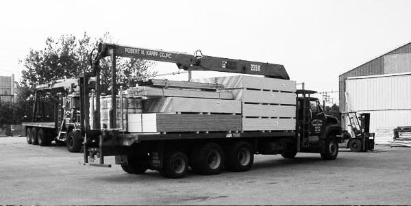 Articulating Boom Crane on truck