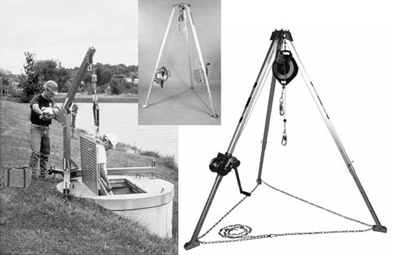 Emergency personnel hoists - with and with tripod support