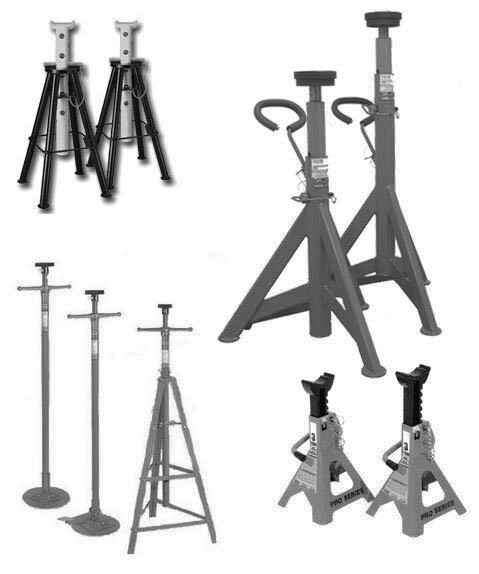 Jack Stands and Supports that CATS can inspect - three different models