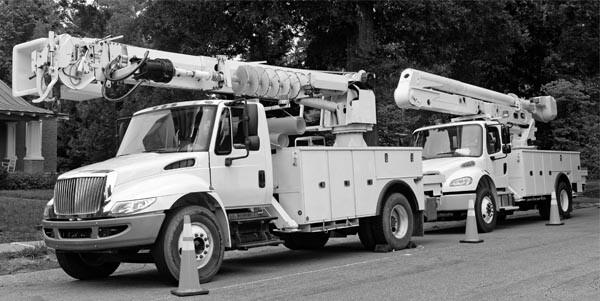 Mobile Crane Digger Derricks - black and white