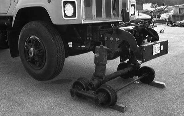 Truck with rail gear, annual inspection underway
