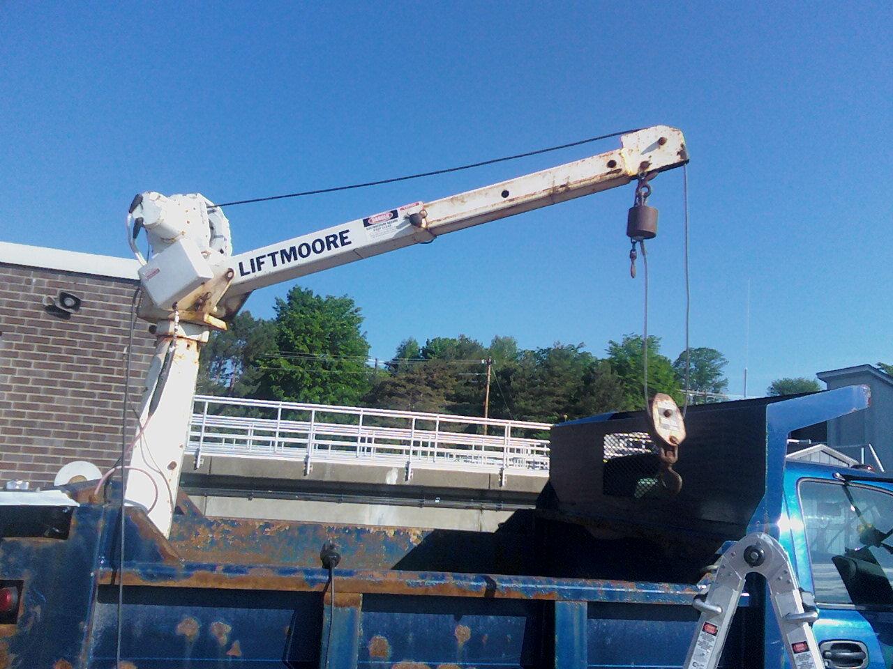 Inspecting a mechanics crane for the City of Bangor