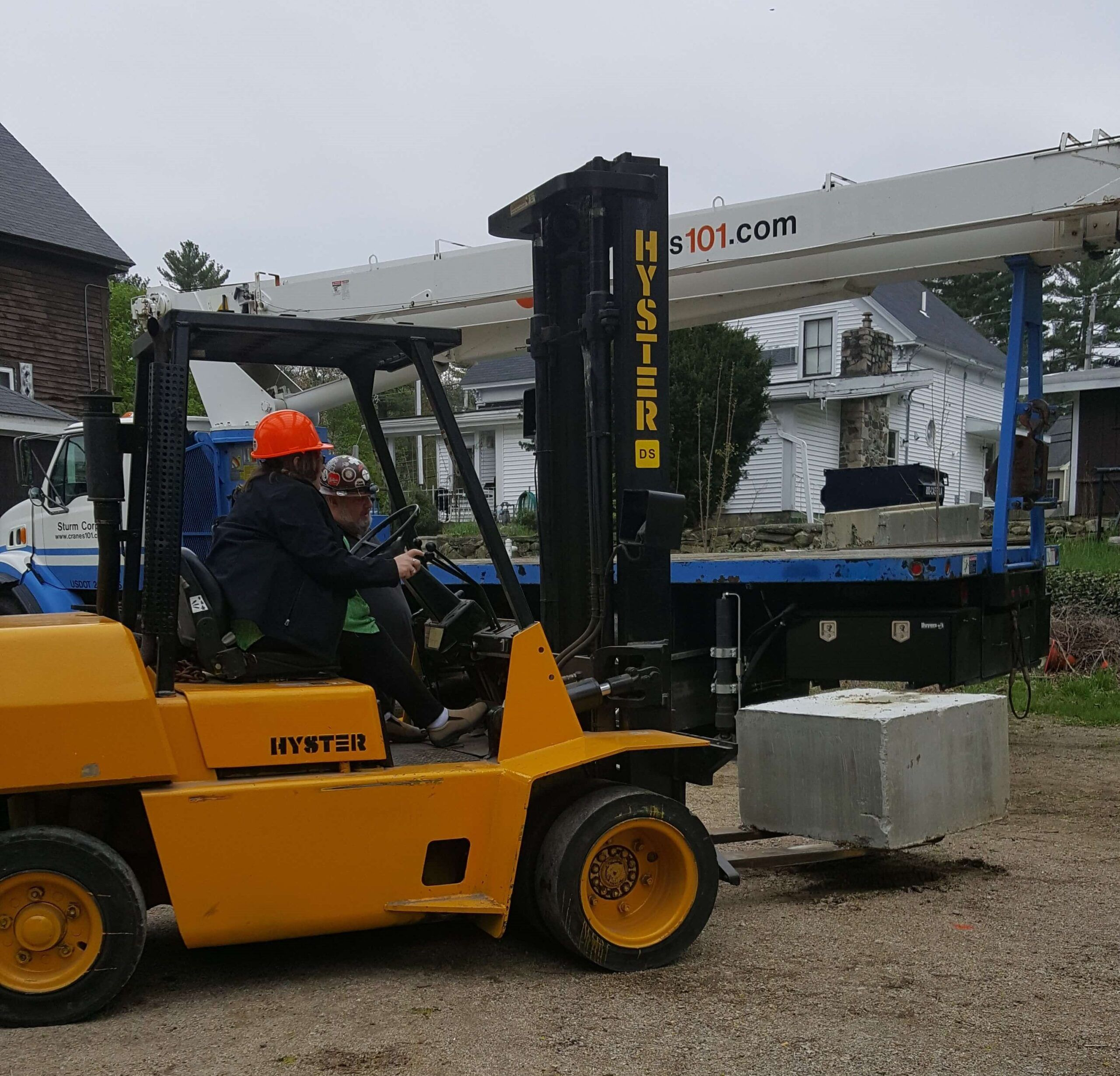 Qualifying test on our forklift