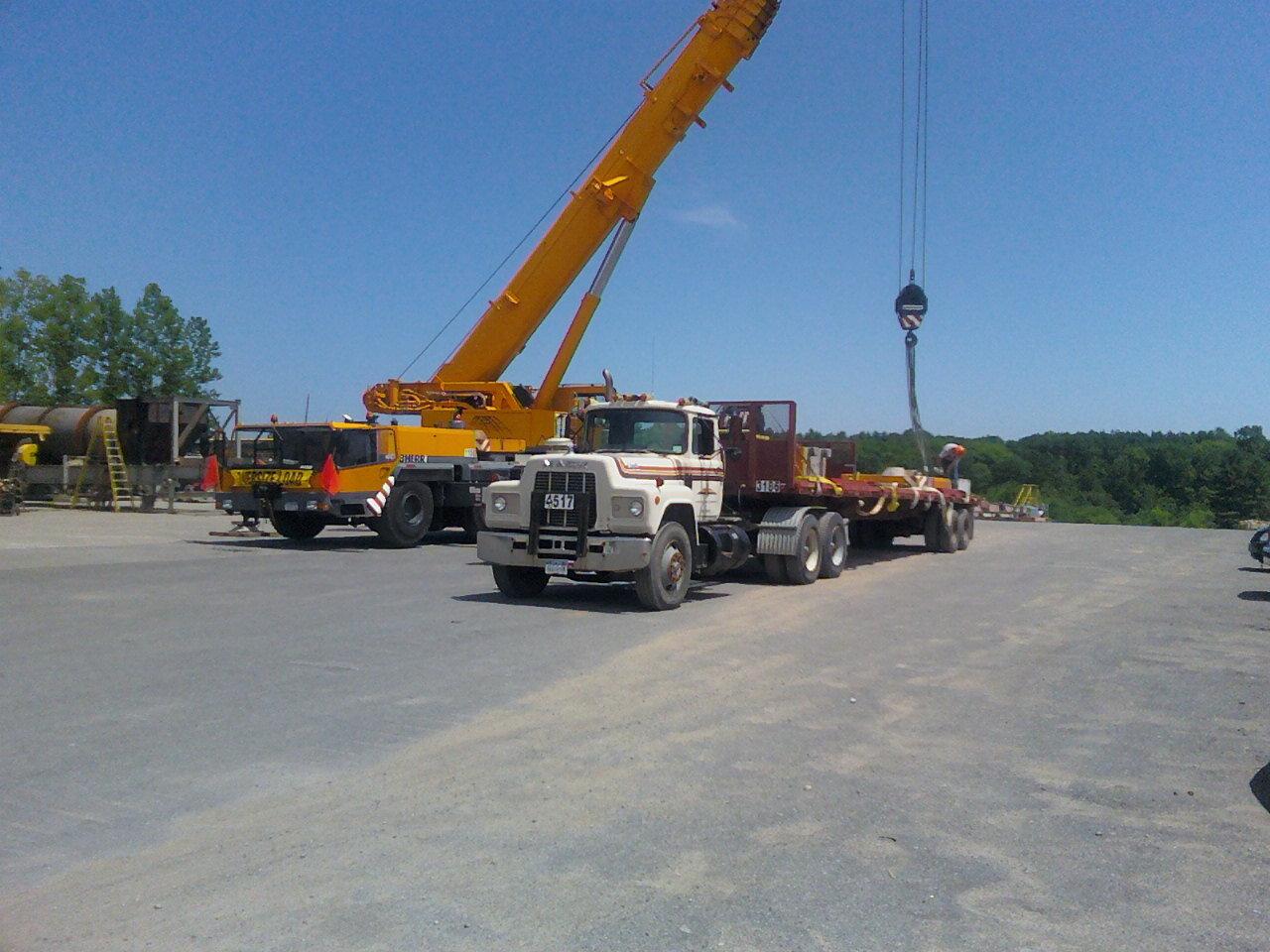 Mechanicsburg, NY - Preparing DA Collins' Grove GMK for a load test