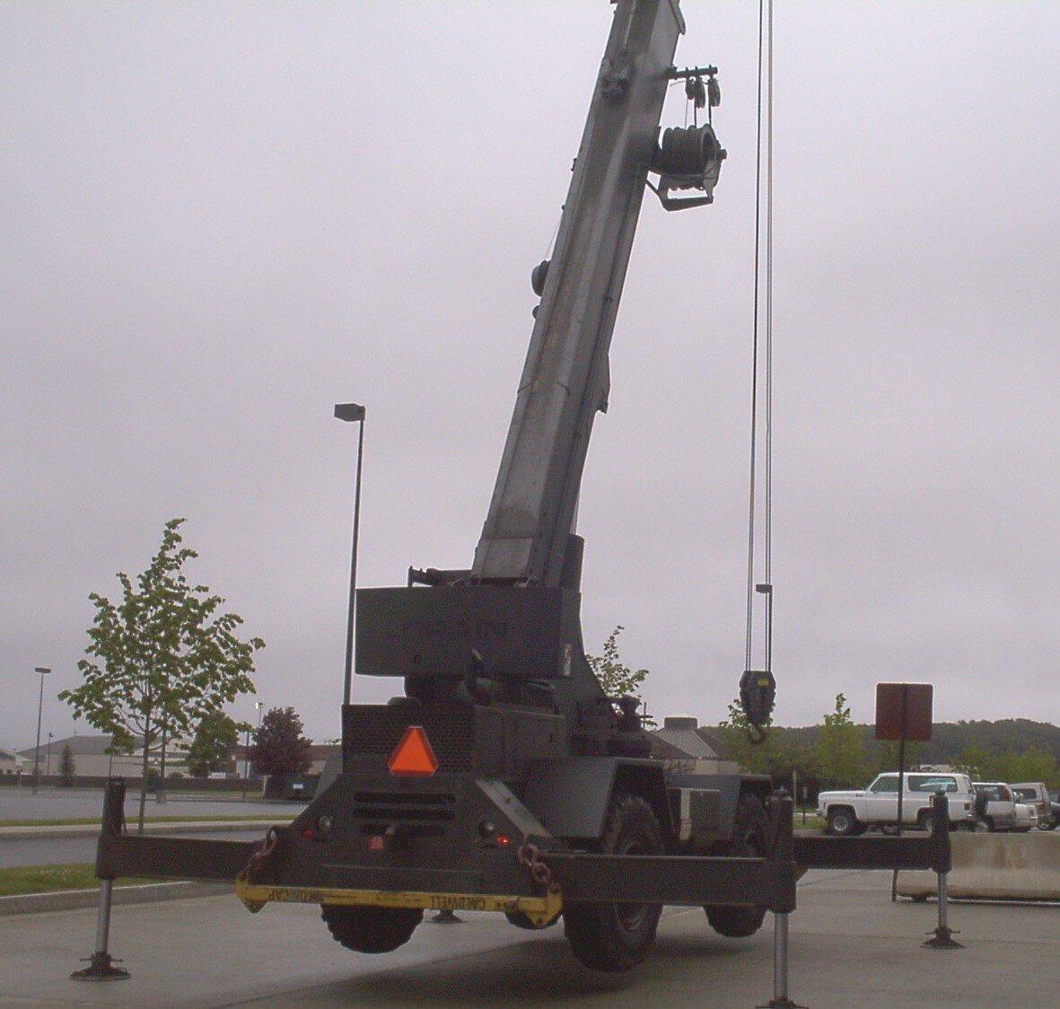 Inspecting a 15 Ton Rough Terrain Crane