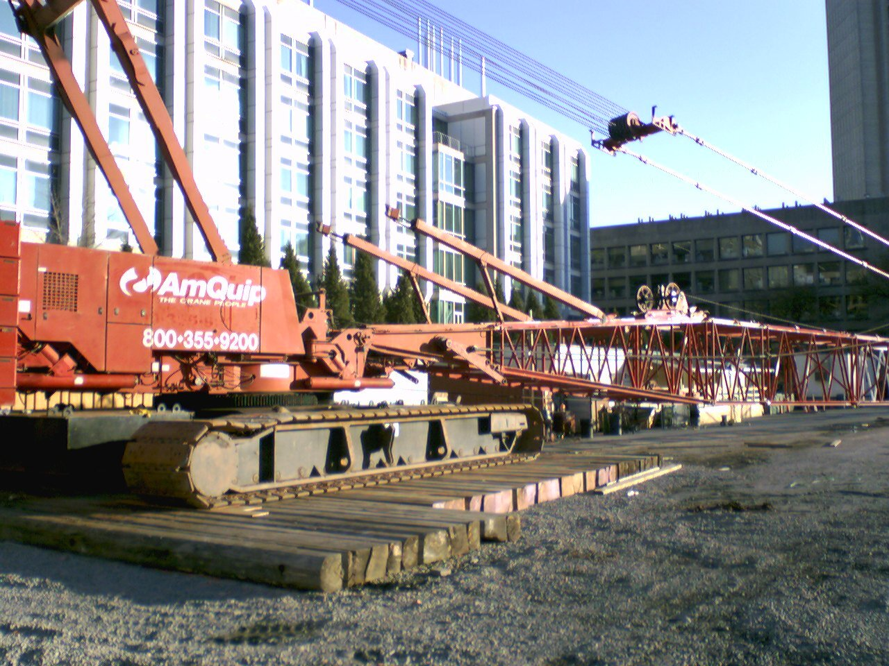 Manitowoc 2250 getting prepared for inspection at MIT