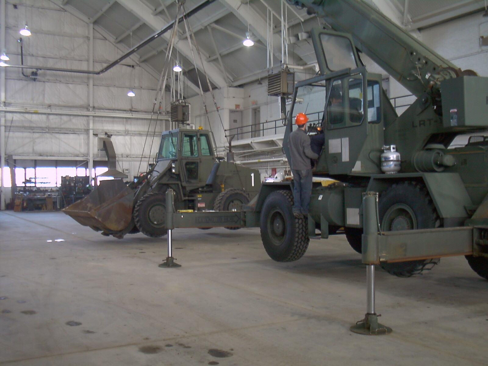Load testing this 15T P&H inside a hangar